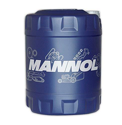 MANNOL 1 x 10 Liter, 2-Takt Plus Motorradöl auf Synthetisches Basis rot
