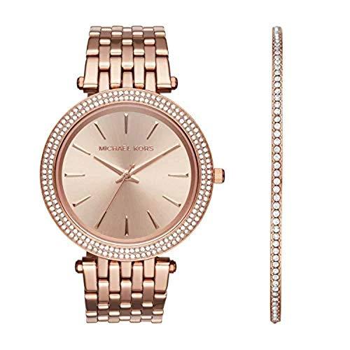 Michael Kors Women's Darci Three-Hand Rose Gold-Tone Stainless Steel Watch MK3715