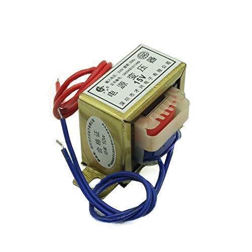 ZCX Zcxiong 10W EI48 Power Transformer Input AC 380V 220V a AC 6V 9V 12V 15V 18V 24V 220V Salida única/Doble Ferrita Tensión de núcleo de Cobre (Color : 380V Single V 2 Line, Output Voltage : AC24V)