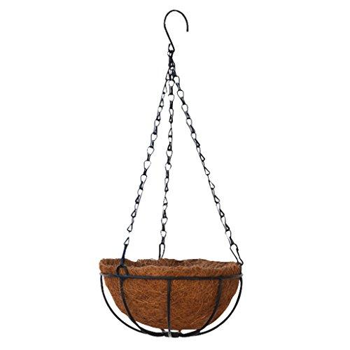 Sharplace Pot à Plants Accrochante Auto-arrosage Jardinière Vase avec Corde de Coton Décoration - 10 Pouces