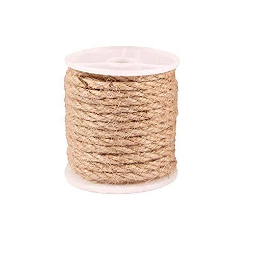 Cfbcc Natürlicher Hanf Cat Klettergerüst DIY Handgemachte Jute Seil Beleuchtung Seil gebunden Hanfseil 4mm x 10M Wie Gezeigt