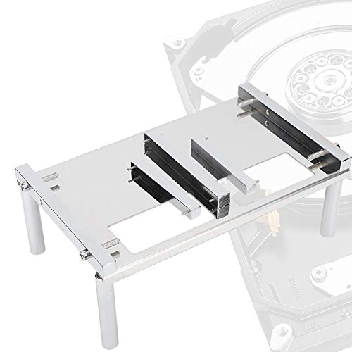 Tangxi Computer HDD Fixed Workbench, 2,5-Zoll-/3,5-Zoll-Festplattenreparaturstand, Festplatte Fixed Workbench + Tool zur magnetischen Extraktion für die Wiederherstellung von Festplattendaten