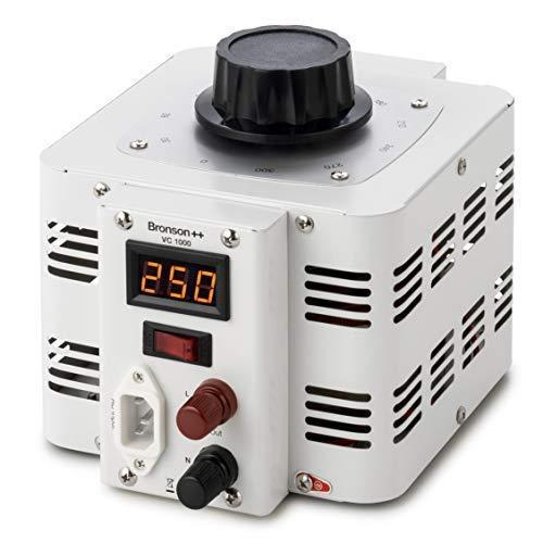 Bronson++ VC 1000 Stelltransformator Stelltrafo Variac - In: 230V - Out: 0-300V - 1000 Watt