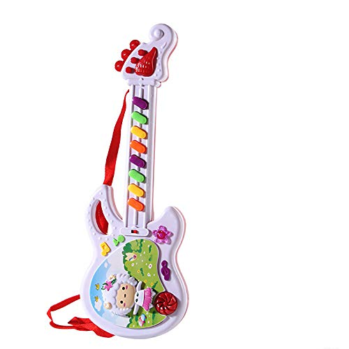 AZRtoys Kids Handheld Musical Electronic Toy Guitar for Children Plays Music, Best Toy & Gift for Girls & Boys (AS Show)