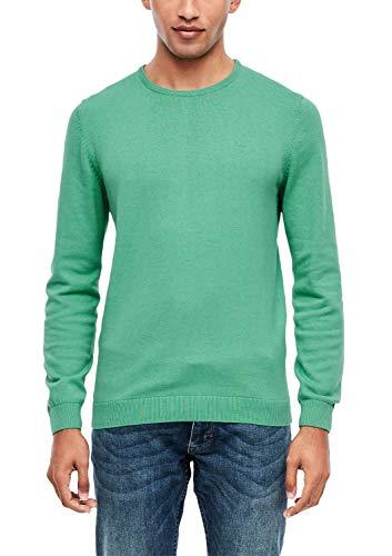 s.Oliver RED Label Herren Pullover mit Rundhalsausschnitt Green Melange L