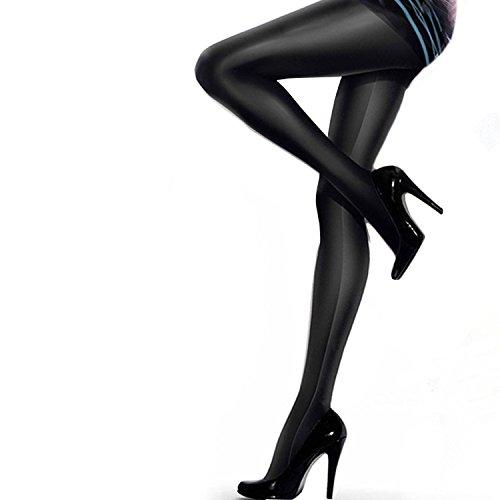 Gatta Black Brillant blickdichte Strumpfhose schwarz 2-S