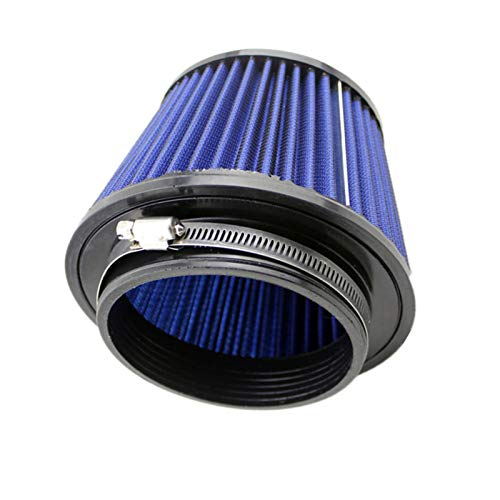 Story Filtros de Aire de Coche Rendimiento Alto Flujo Filtro de Ingesta en frío Kit de inducción Deporte Power Malla Cono 115 mm (Color : Blue)