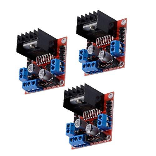DierCosy Tools 3PCS Schrittmotor-Treiber-Modul L298N DC Doppel-H-Brücke Controller Board Kompatibel mit Arduino Raspberry Pi