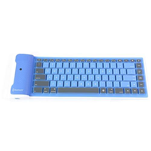 NCBH Bluetooth-toetsenbord, Bluetooth, draadloos, zacht toetsenbord, silicone, opvouwbaar, waterdicht, voor smartphones en tablets