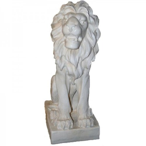 Grand lion de style antique blanc-lIENS env. 75 cm