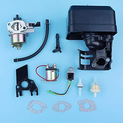 HaoYueDa Carburador Filtro de Aire Carcasa de admisión Motor Kit de relé de solenoide Compatible con Honda GX160 5.5HP GX200 6.5HP 168F 170F Generador Motor cortacésped