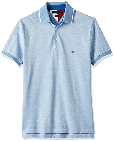 Tommy Hilfiger Herren Th Cool Oxford Regular Polo Poloshirt, Regatta Blue, M
