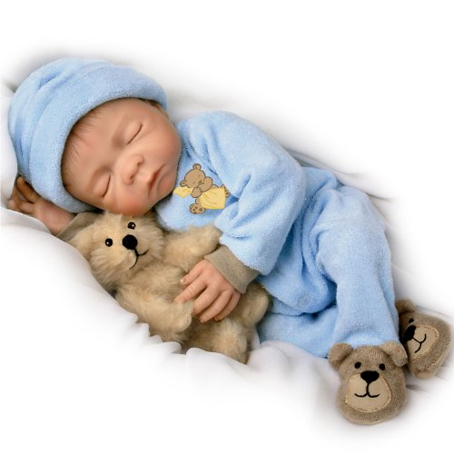 The Ashton-Drake Galleries Sweet Dreams, Baby Jacob So Truly Real Lifelike & Realistic Newborn Baby Boy Doll 18-inches