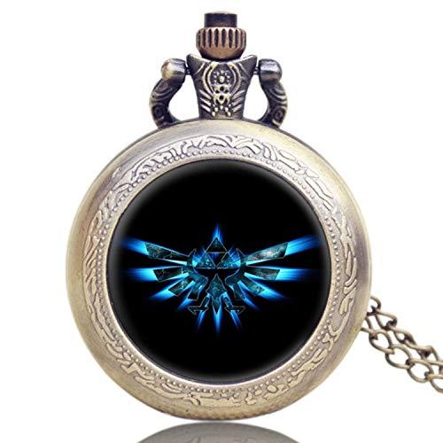 Vintage Hot Design The Deathly Hallows Taschenuhr für Herren pokect Armbanduhr Geschenk (The Legend of Zelda)