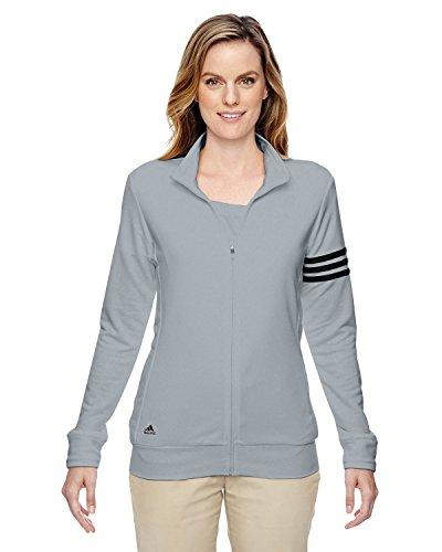 Adidas Damen-3-Streifen Full Zip Pullover Jacke, damen, chrom / schwarz
