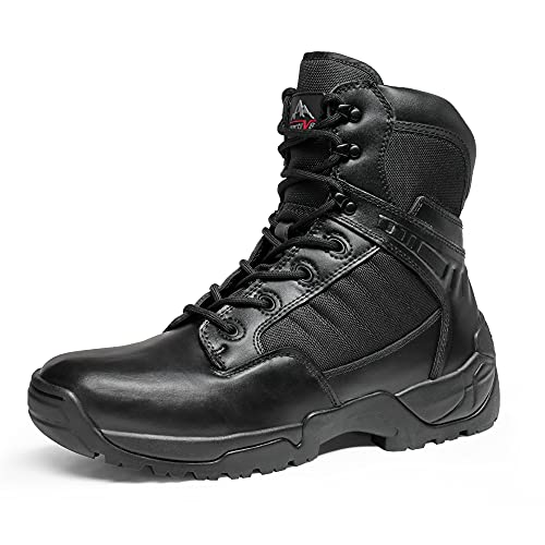 NORTIV 8 Men's Military Tactical Work Boots Side Zipper Mid...