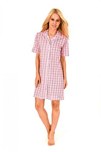 Normann Copenhagen Damen Nachthemd Sleepshirt mit Durchgehender Knopfleiste - 171 213 90 894, Größe:36/38;Farbe:orange