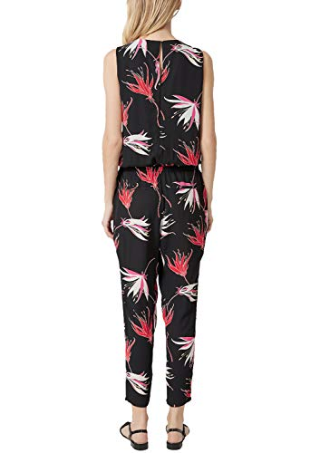 s.Oliver BLACK LABEL Damen Jumpsuit mit Layer-Effekt Black AOP 40 - 3