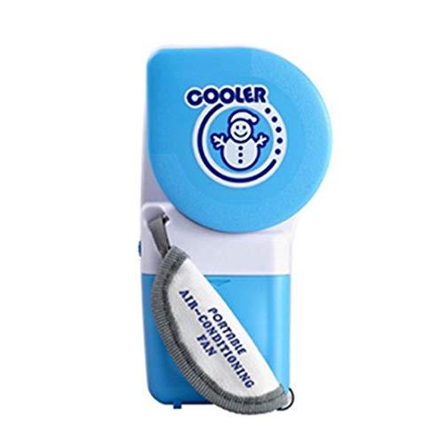 LIANGANAN USB Fan, Material ABS Aire acondicionado ventilador USB portátil del muñeco productos de forma creativa TV mini ventilador del ventilador sin hojas azul batería disponible 9.5 * 5 * 17.5cm a
