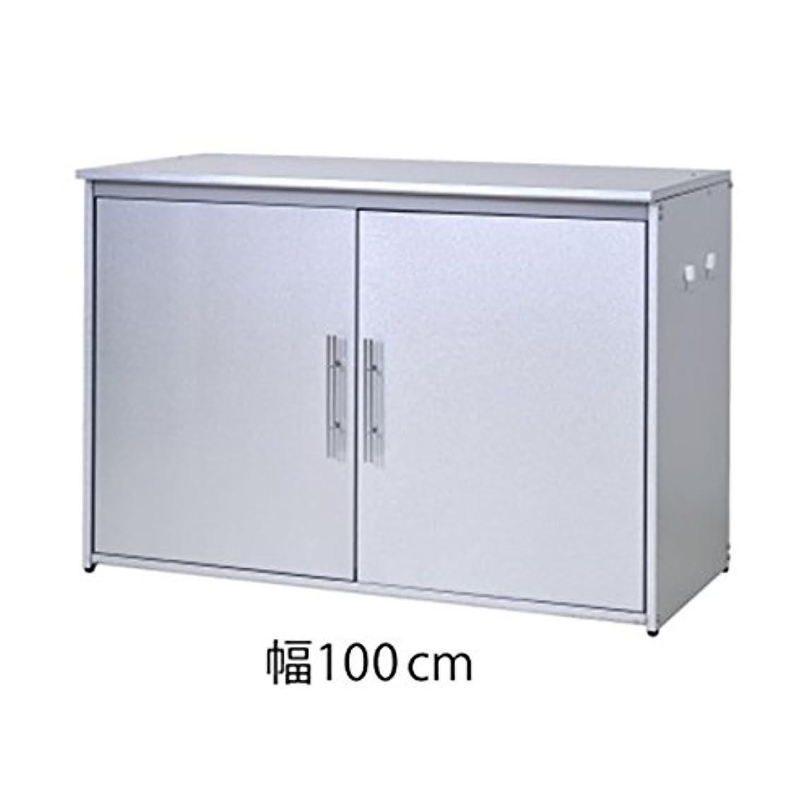 概して谷コンチネンタル足立製作所 日本製 ダスト収納庫 オールガルバ製 幅100cmタイプ