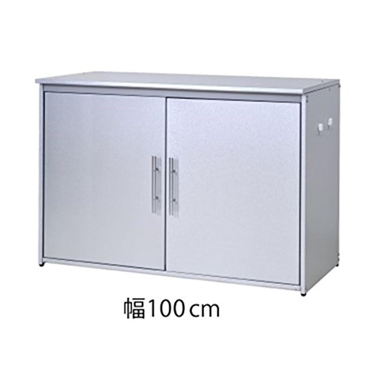 選挙スリムストリーム足立製作所 日本製 ダスト収納庫 オールガルバ製 幅100cmタイプ