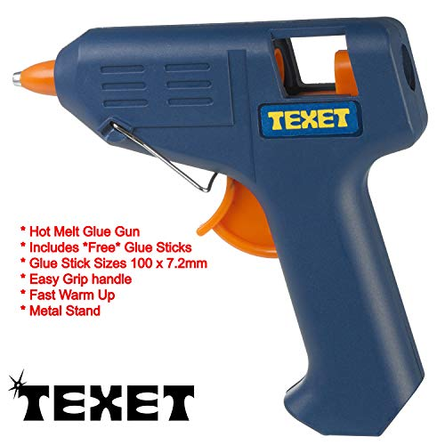 TEXET-MINI HOT MELT GLUE GUN HOBBY CRAFT-DISPENSER PER ADESIVO PER 7,2 MM, CON HH-138-BASTONCINI