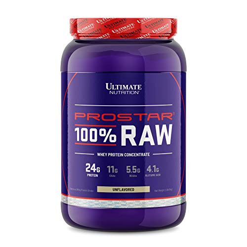 Ultimate Nutrition Prostar 100% Raw Natural Unflavored Whey Protein Powder with 24 Grams of Protein with No Artificial Sweeteners, 33 Servings