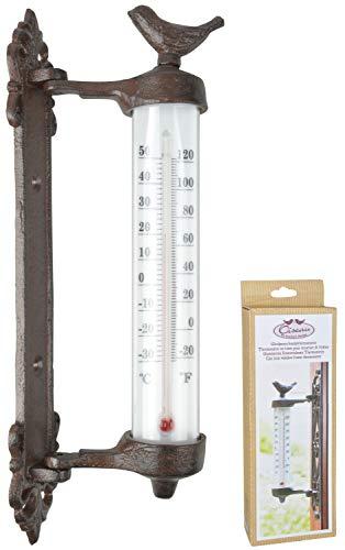 Esschert Design Thermometer Fensterthermometer Fenster Wandthermometer Guss