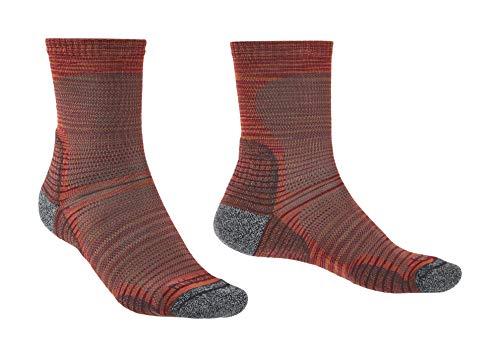 Bridgedale Herren Ultra Light Crew Merino Endurance Socken, Multi Orange, Medium