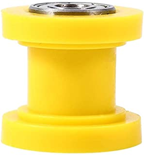 8mm Universal Pulley Chain Roller Slider Tensioner Wheel Guide for Motorcycle Pit Dirt Mini Bike Atv(Yellow)
