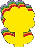 """5.5"""" Flower Assorted Color Creative Cut-Outs, 31 Cut-Outs in a Pack for Spring, Summer Flower Garden Kids' School Craft Projects."""