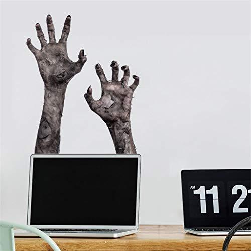 Hunpta @ Halloween Deko Wandaufkleber DIY Horror Hand Selbstklebende Aufkleber Wandtattoos Wohnzimmer Schlafzimmer Wand Fenster Party Dekoration