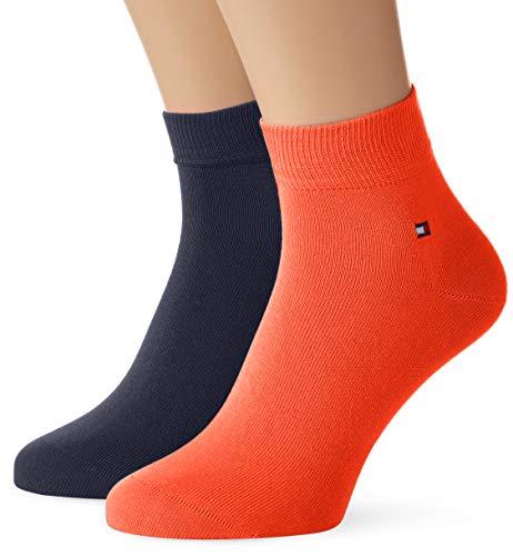Tommy Hilfiger Herren TH MEN QUARTER 2P Socken, Orange (Coral 009), 43-46 (2er Pack)