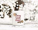 Taza de café brillante de Baking, jengibre, taza de Navidad, taza de invierno, taza de vacaciones, taza de café de granja