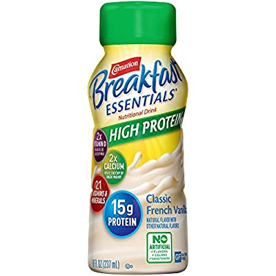 Carnation Breakfast Essentials High Protein Ready-to-Drink, 8 Ounce Bottle (Pack of 24) (Packaging May Vary)