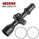 T-EAGLE MR 3-12X42SFIR Rifle Scope First Focal Plane FFP, Green and Red Illuminated Built Etched with Reticel Turret Lock and Mounts Fr