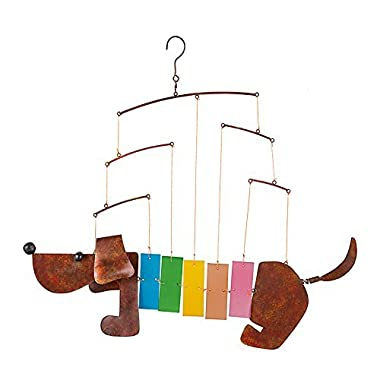 Rainbow Dachshund Wind Chime