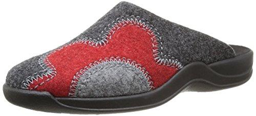 Rohde Damen Vaasa-D Pantoffeln, Grau (Graphit 83), 40