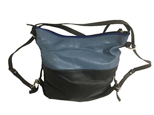 MG Lavorazione artigianale pelle e cuoio - Bolso mochila para mujer Talla única Col. 7 Talla única