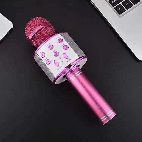 ABMBERTK Bluetooth Karaoke Mikrofon , Drahtloses Mikrofon , Professiona Lautsprecher Handheld MikrofonPlayer, Lila
