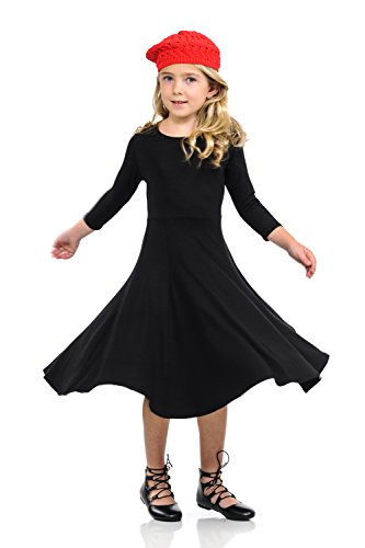Pastel by Vivienne Honey Vanilla Girls' Princess Seam A-Line Dress with Full Skirt Large 9-10 Years Black