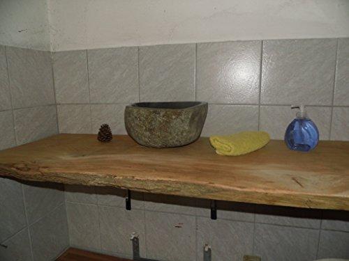 Waschtischplatte, Tischplatte ca. 160 x 60 x 7 cm, Waschtisch, geschliffen,Brett, Eiche, Wurmeiche, Alteiche