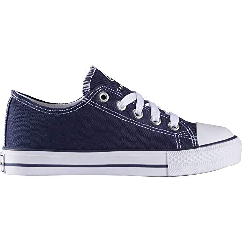 Firefly Unisex-Kinder Canvas Low Iii Jr Sneaker, Blau (Navy 506), 34 EU