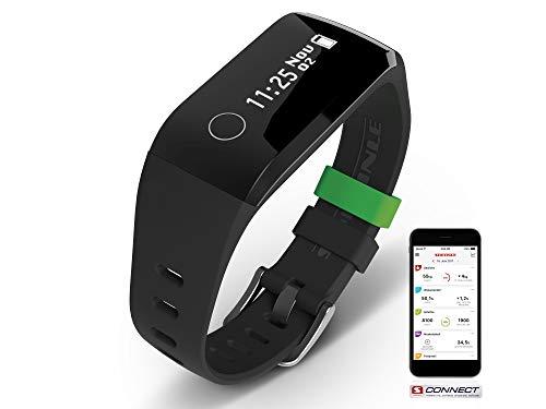 Soehnle Fitnesstracker Fit Connect 200 HR mit Bluetooth-Anbindung, Fitnessarmband mit bis zu 10 Tagen Laufzeit zählt Schritte und Kalorienverbrauch, Fitness Armbanduhr mit Schlafanalyse