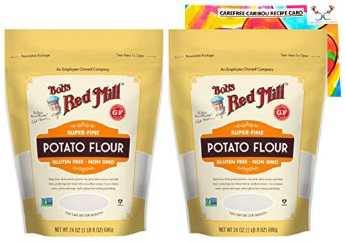 Gluten Free Potato Flour Bundle. Includes Two (2) 24oz Packages of Bobs Red Mill Gluten Free Potato Flour and an Authentic Carefree Caribou Potato Flour Recipe Card!