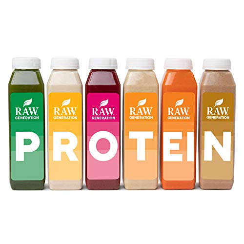 3-Day Protein Cleanse by Raw Generation® – High Protein Juice Cleanse with Dairy and Soy-Free Protein Smoothies/Gets Results Quickly While Energizing Your Workouts/Jumpstart a Healthier Diet