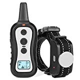 LOETAD Training Collar for Dogs Remote Control Waterproof with Beep, Vibration and Shock