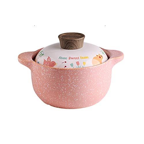 ZAIZAI Ceramic Stewpot Casserole Soup Rice Household Gas Cooker Stone Cooking Pot Special Pot Small Size Pan