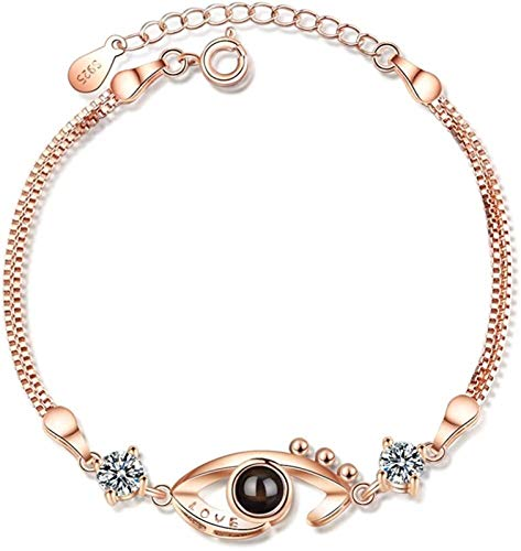 XIAOGING Bangles Friendship Bracelets Women Bracelet Speacial Design Bangle Cheap Bracelets for Women Infinity Bracelet Best Friend Bracelet Women Bracelets (Color : Rose Gold)