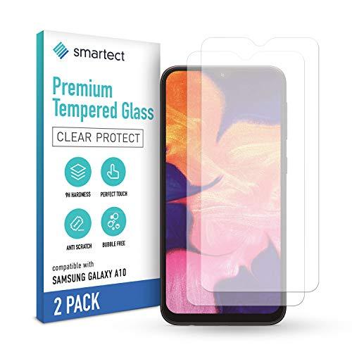 smartect Schutzglas kompatibel mit Samsung Galaxy A10 [2 Stück] - Tempered Glass mit 9H Härte - Blasenfreie Schutzfolie - Anti-Kratzer Displayschutzfolie